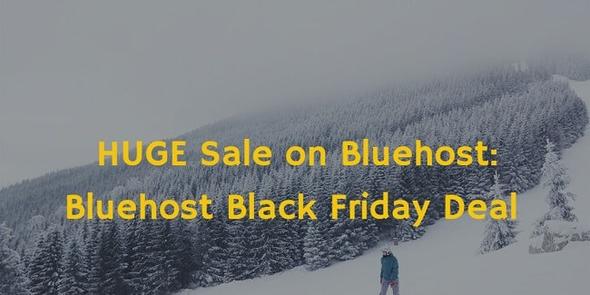 [Live] Bluehost Black Friday Deal 2016: Just $2.65 A Month for 36 months