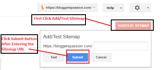 Use Sitemaps Feature to Submit Your XML Sitemap File