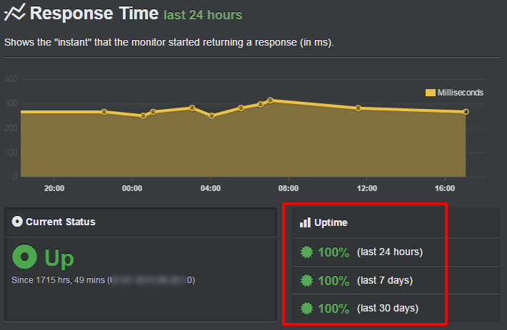 uptime ipage usage