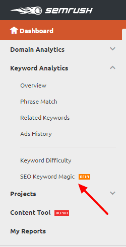 SEO Keyword Magic info