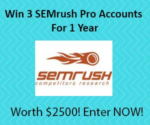 Win SEMrush Pro Accounts