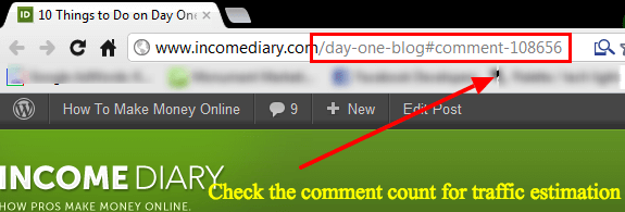 comment count check site traffic