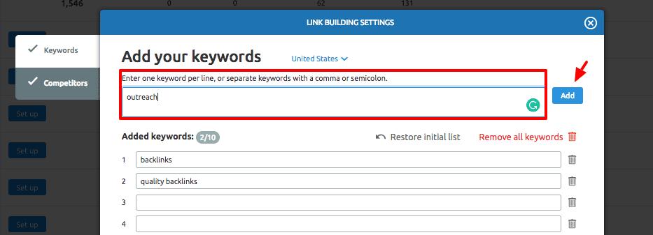 outreach keywords