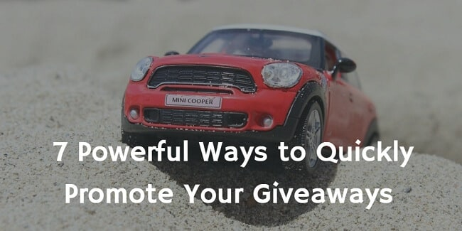 tips to promote giveaways