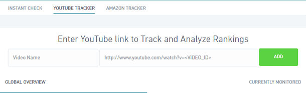 Youtube Rank Tracking