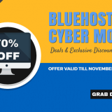 [Ended] Bluehost Cyber Monday Deal 2016: Get Over 70% OFF!