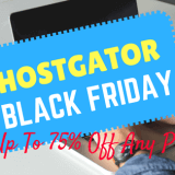 HostGator Black Friday 2017 Deal →Get 75% Discount on Hosting