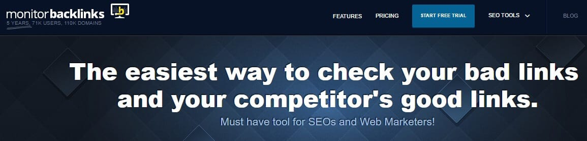 Monitor competitor Backlinks