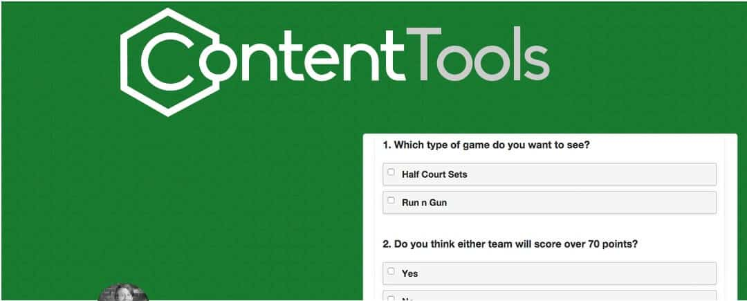 Create Free Polls with ContentTools