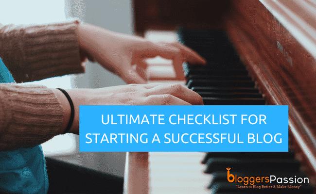 blog setup checklist