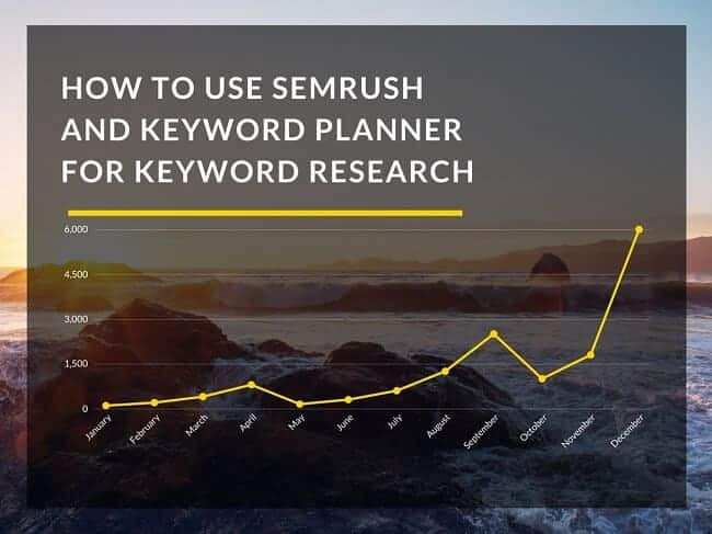 Use SEMrush And Keyword Planner for Keyword Research