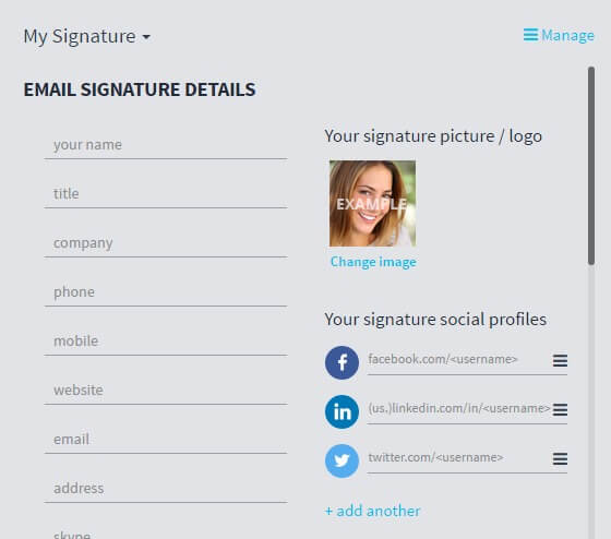 Free Email Signature Generator for Gmail