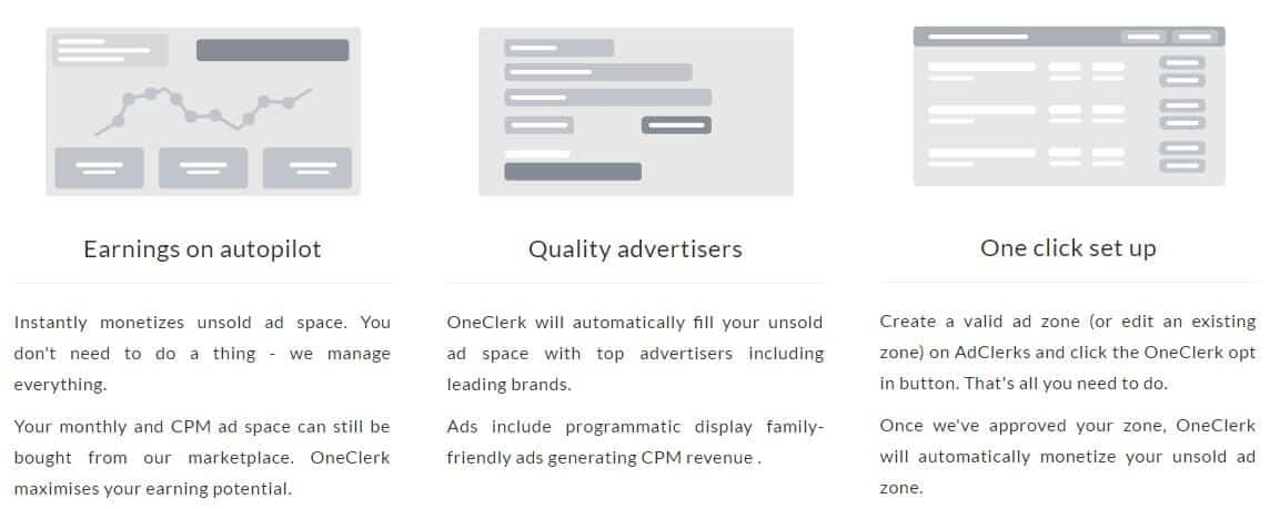 monetise unsold ads with oneclerk