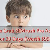 SEMrush Coupon: Here's How to Grab Your 30 Days Free Account (Worth $99.95)