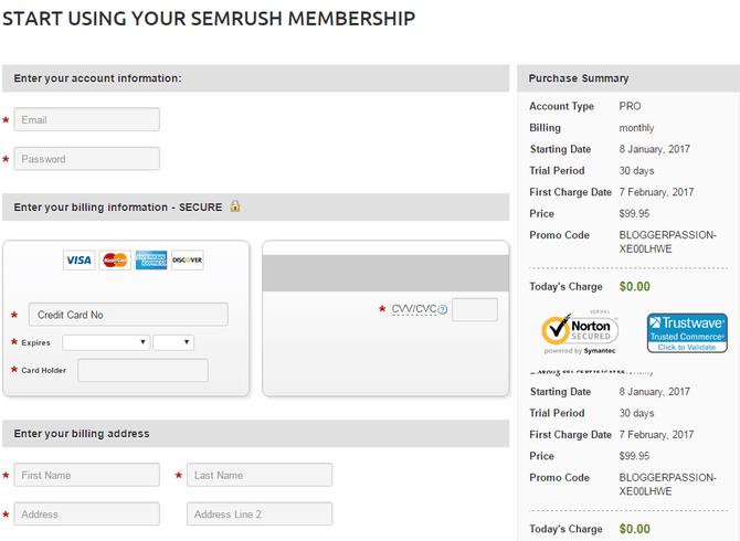 SEMrush Pro account free access