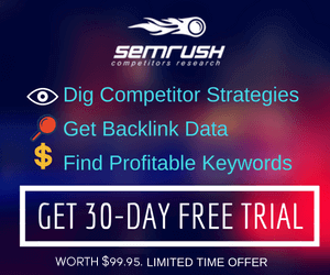 semrush 30 day free trial