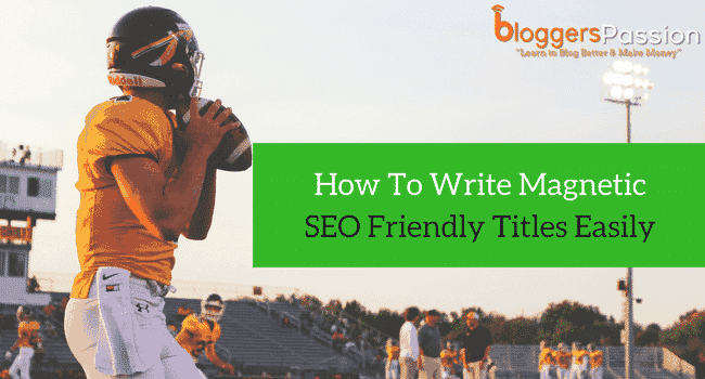 write SEO friendly titles