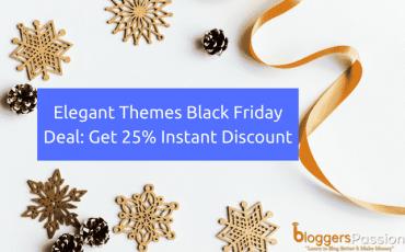 Elegant Themes Black Friday 2017