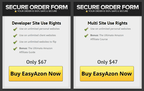 Pricing of EasyAzon plugin