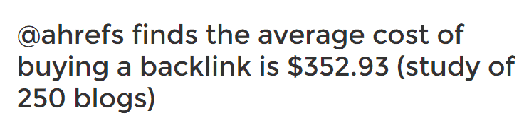 buying links cost