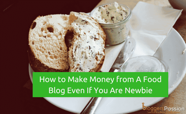 make money from food blog