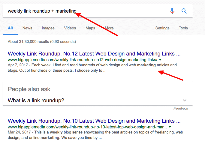 roundup posts seo