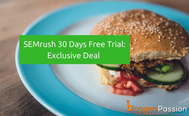 SEMrush 30 Days Free Trial