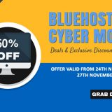 Bluehost Cyber Monday 2018 Deal: Get Over 60% OFF!