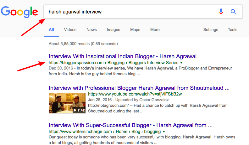 harsh agarwal interview