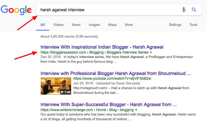 harsh agarwal interview