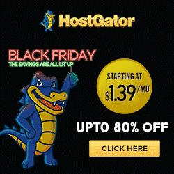 Hostgator Black Friday Cyber Monday sales