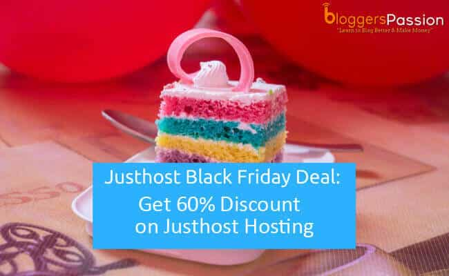 Justhost Black Friday 2018 Deal