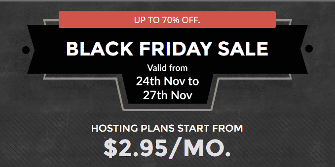Siteground Black Friday deal 2018