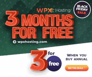 WPX Hosting Black Friday: Three Months Free