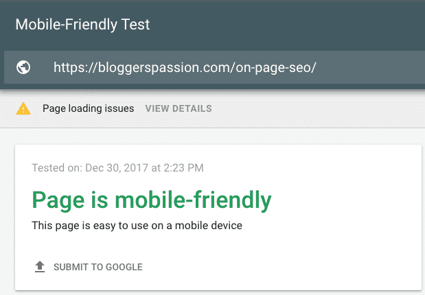 Do Mobile Friendly Test