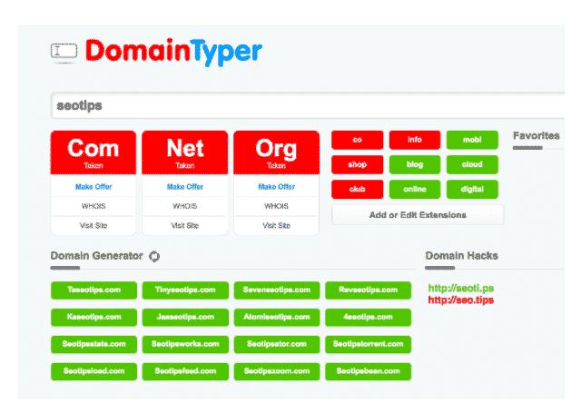 domain typer