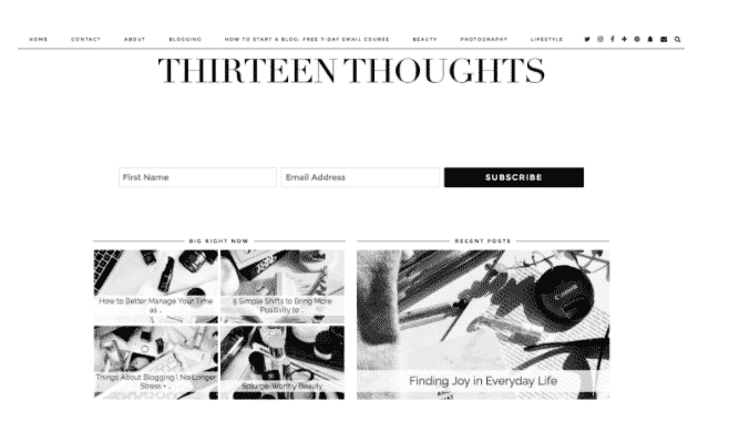 Thirteen Thoughts