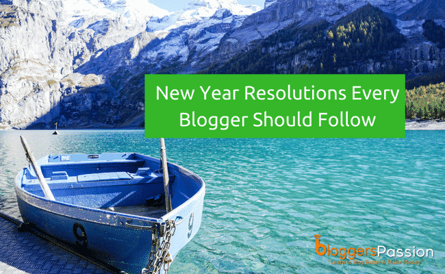 new year blogging resolutions 2018