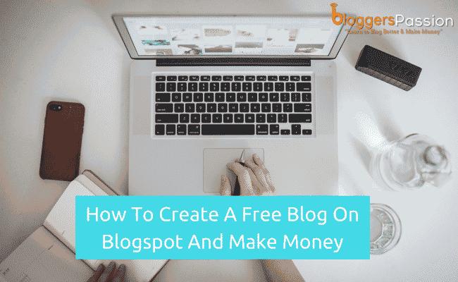 Start a free blog on blogspot