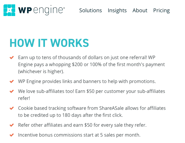 WPEngine Affiliate Payout