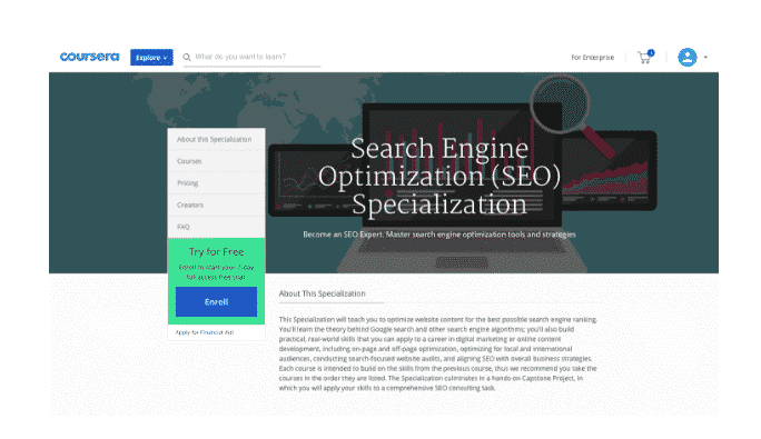 coursera seo training