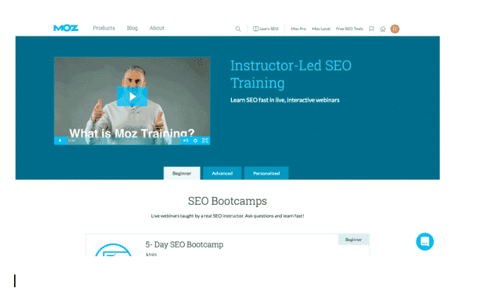 moz seo training