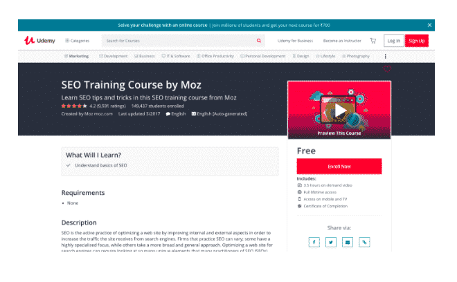 moz udemy training