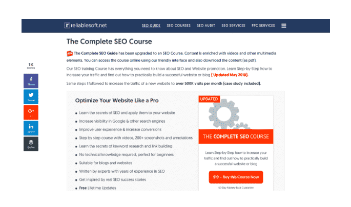 reliable soft seo training