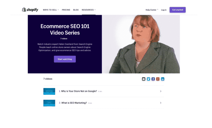 SEO 101 by shopify