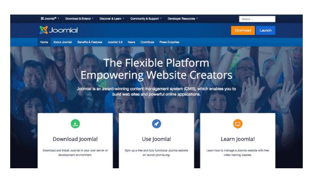 Joomla blogging platform