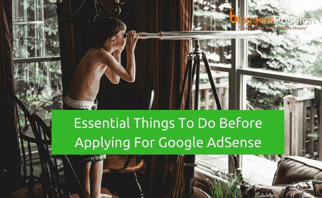 before applying for Google adsense