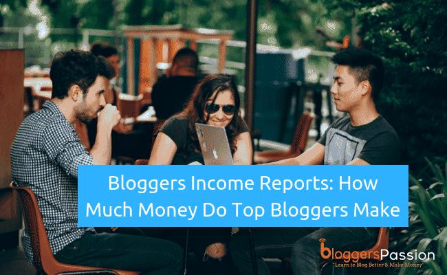bloggers income reports