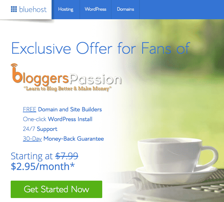 bluehost hosting exclusive