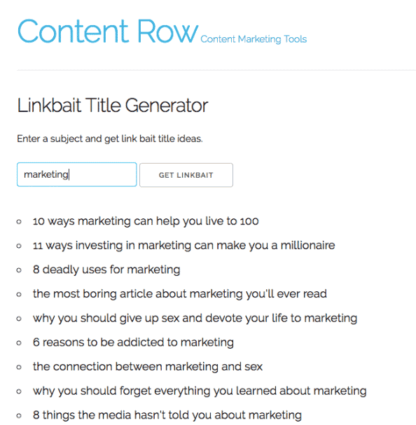 content row tool